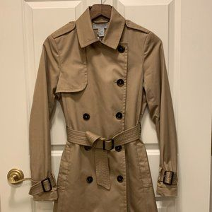 Nearly New H&M Short Trench Coat Size US 4 & * FREE GIFT w/ Purchase
